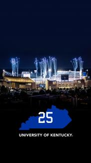 Kroger Field fireworks with University of Kentucky 25 phone background